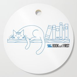 The Purrfect Reading Buddy Cutting Board