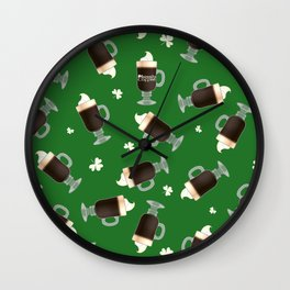 Irish Coffees Wall Clock