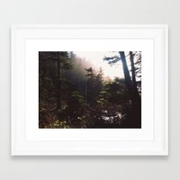 forrest Framed Art Prints featuring Forrest by The Beard Fairmans