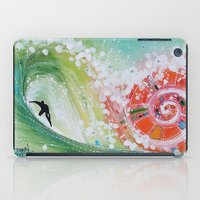 narnia iPad Cases featuring Surf Wave Somewhere in Narnia by ArtSeriously