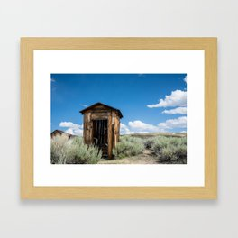 Lone Outhouse Framed Art Print