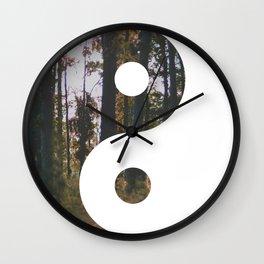 Yin Yang Forest Wall Clock