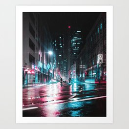 Frankfurt Night City Art Print
