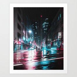 Frankfurt Night City Art Print