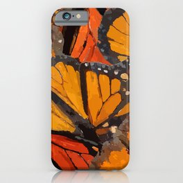 Monarch Butterfly Overlay iPhone Case