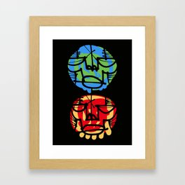 2 Heads Framed Art Print
