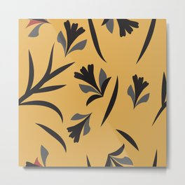Fantasy flowers and leaves Metal Print