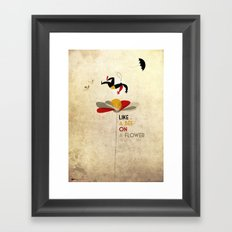 Like a bee on a flower Framed Art Print