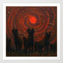 Hyena Sundown Art Print