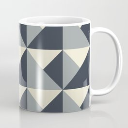 Gray + Cream Origami Geo Tile Coffee Mug