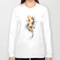 koi fish Long Sleeve T-shirts featuring Koi Fish by Sam Nagel
