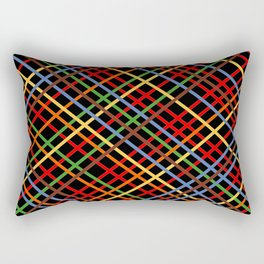 Metro Weave 45 Black Rectangular Pillow