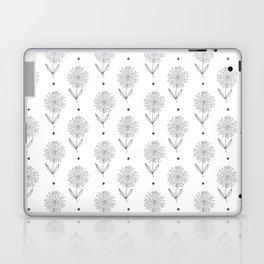 Hand drawn black white sunflower geometrical  pattern Laptop & iPad Skin