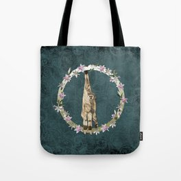 Lar Gibbon Lily Wreath Tote Bag