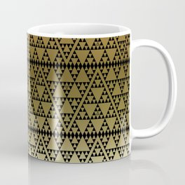 Triangles in Triangles on gold Coffee Mug