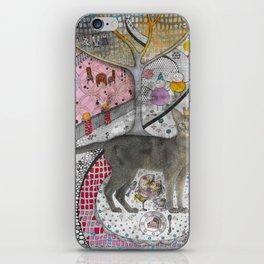 """Cat birthday""  Illustrated print iPhone Skin"