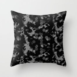 Stealth Honeycomb Camo Throw Pillow