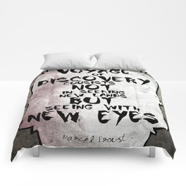 Marcel Proust about Voyage Famous Quote Comforters