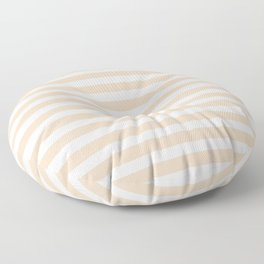 Taupe + Stripe Floor Pillow