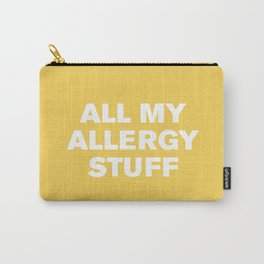 All My Allergy Stuff (Primrose) Carry-All Pouch