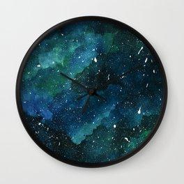 Emerald Galaxy Wall Clock
