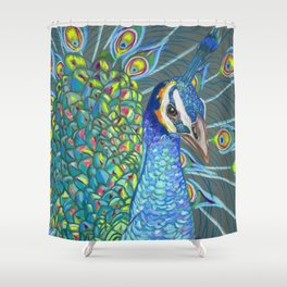 Peacock Love Shower Curtain