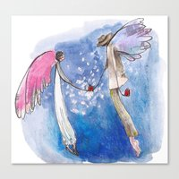 angels Canvas Prints featuring angels by SOYKO STUDIO
