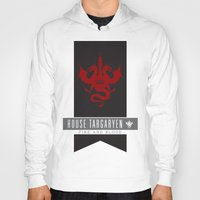 daenerys targaryen Hoodies featuring House Targaryen Sigil V2 by P3RF3KT