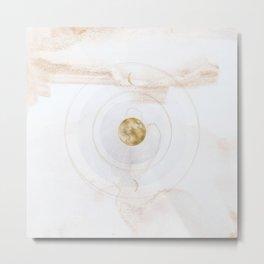 Full Moon Ease, Rose Gold Metal Print