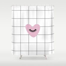 Love is blind Shower Curtain