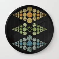 moon phase Wall Clocks featuring Phase 3 by Last Call