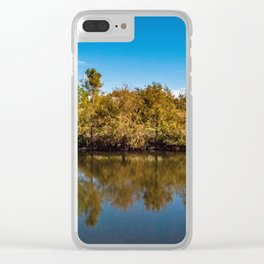 Straight Body of Water in Boca Clear iPhone Case