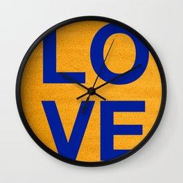 Cobalt Love Wall Clock