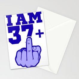 Middlefinger Up I'm 37th Birthday Gift Idea Stationery Cards