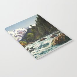Mountains Forest Rocky River Notebook