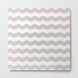 Winter 2018 Color: Gasp Gray on Millennial Pink Waves Metal Print
