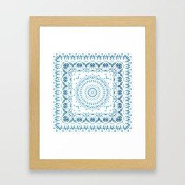 In Blue (Pattern Mandala) Framed Art Print