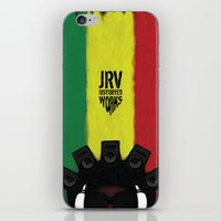 reggae iPhone & iPod Skins featuring Reggae King by JRV Distorted Works