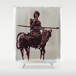 Don Quixote by Shimon Drory Shower Curtain