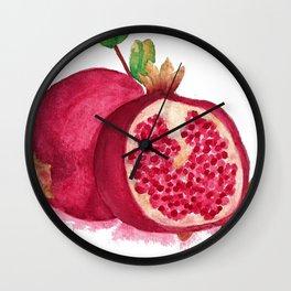 issa pomegranate Wall Clock