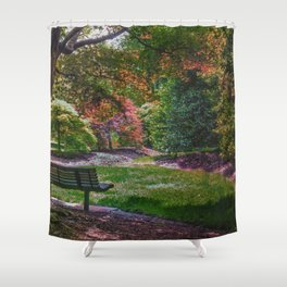 The Park Bench Shower Curtain