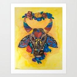 Boi Bordado Art Print