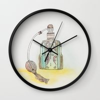 perfume Wall Clocks featuring Perfume by Moe Notsu