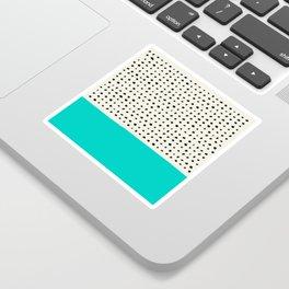 Aqua x Dots Sticker