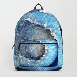 Blue Crystal Geode Backpack