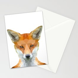 Low Poly Fox face Stationery Cards