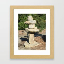 Kubota Garden rock sculpture Framed Art Print