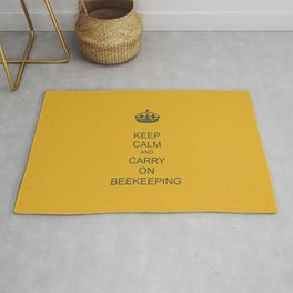 Keep Calm and Carry on Beekeeping Rug