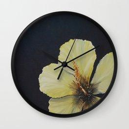 Sunlit Hibiscus Wall Clock