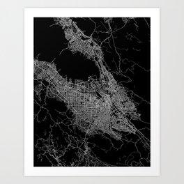 san jose map Art Print